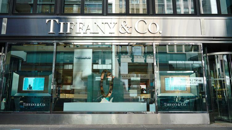 Le magasin new-yorkais Tiffany & Co, sur la 5e avenue. (JOHN NACION / NURPHOTO)