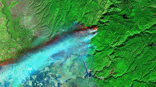 Plus de 60 000 hectares ont été ravagés par les flammes autour de Paradise en Californie. (Sentinel Hub)