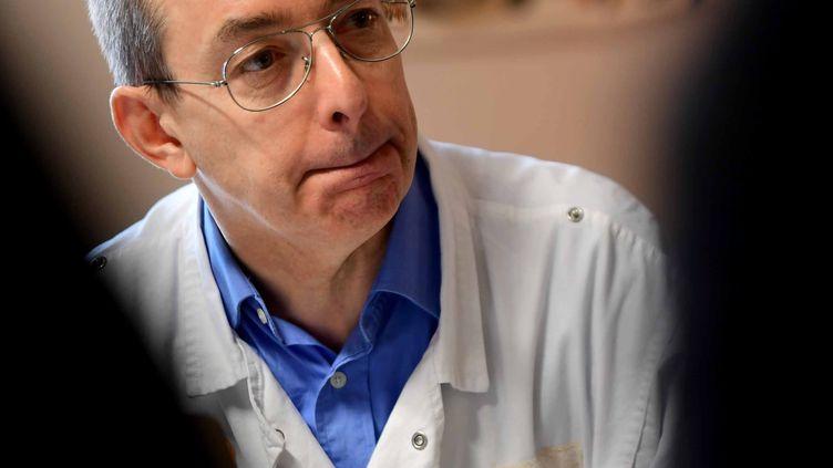 Le docteur Éric Loupiac, à Lons-le-Saunier, le 21 janvier 2019. (PHOTO PHILIPPE TRIAS / MAXPPP)