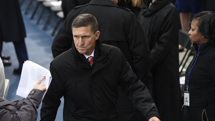 Michael Flynn lors del'investiture de Donald Trump à la présidence américaine, le 20 janvier 2017 à Washington (Etats-Unis). (SAUL LOEB / AFP)