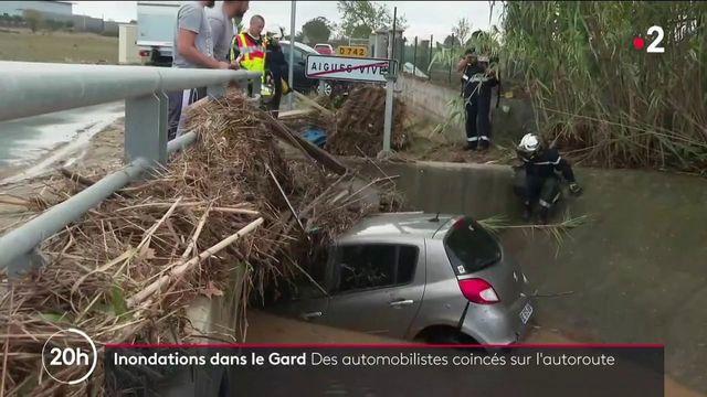 Gard : les intempéries barrent la route aux automobilistes