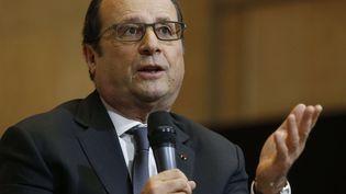 François Hollande au Conseil économique, social et environnemental, à Paris, le 6 mai 2015. (MICHEL EULER / AP / SIPA )