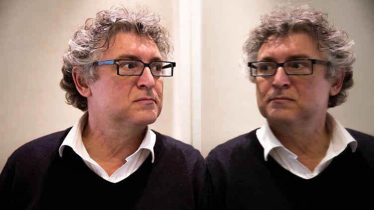 Le philosophe Michel Onfray, à l'Atlantic Hotel dans le 8e arrondissement de Paris, le 31 mars 2015.  (MAXPPP)