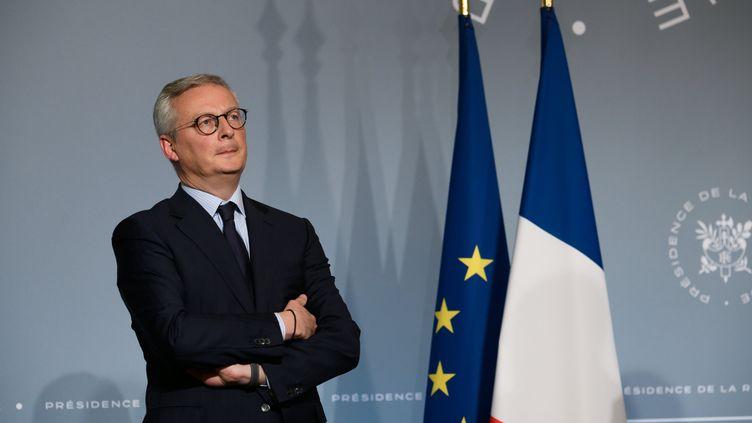 Bruno Le Maire à l'issue du Conseil des ministres, le 8 avril 2020 à Paris. (JACQUES WITT / REA / SIPA)