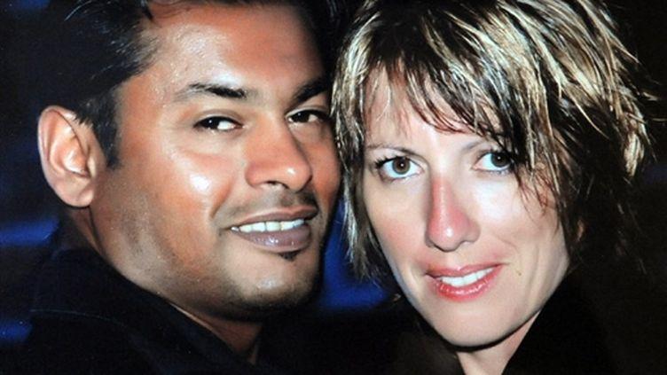 Domanick Murugan, emprisonné en Turquie, pour vol d'antiquité, et son épouse Martine (© AFP/Album de famille)