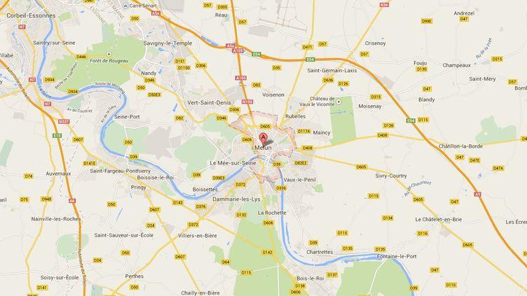 La mairie de Melun (Seine-et-Marne) pourra conserver sa crèche de Noël après la décision du tribunal administratif, le 22 décembre 2014. ( GOOGLE MAPS)