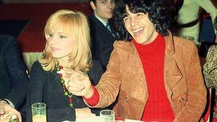 France Gall et Julien Clerc, en avril 1970 dans un lieu non précisé. (DALMAS / SIPA)