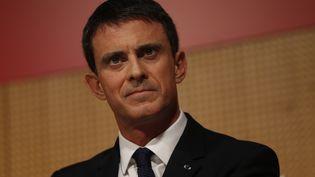 Le Premier ministre, Manuel Valls, mardi 3 novembre 2015 à Sciences Po, à Paris. (THOMAS SAMSON / AFP)