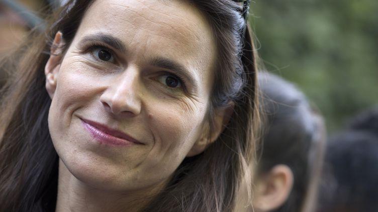 La ministre de la Culture, Aurélie Filippetti, lors de la Fête de la musique, le 21 juin à 2014, à Paris. (KENZO TRIBOUILLARD / AFP)