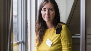Katia Dubreuil, la présidente du Syndicat de la magistrature, le 1er octobre 2020. (VINCENT ISORE / MAXPPP)