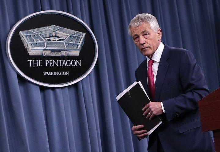 Le secrétaire à la Défense américain Chuck Hagel, le 15 mars 2013 au siège du Pentagone, à Arlington (Virginie, Etats-Unis). (WIN MCNAMEE / GETTY IMAGES NORTH AMERICA)