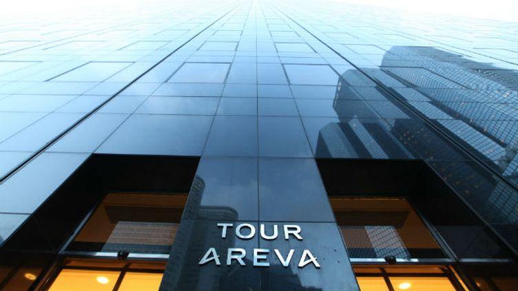 (L'immeuble d'Areva dans le quartier de la Défense près de Paris©MAXPPP)
