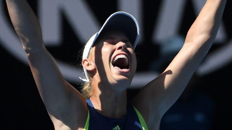 Le bonheur de la Danoise Caroline Wozniacki (WILLIAM WEST / AFP)