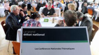 Conférence régionale citoyenne au Pavillon Joséphine à Strasbourg (Bas-Rhin), dans le cadre du grand débat national le 22 mars 2019. (MAXPPP)
