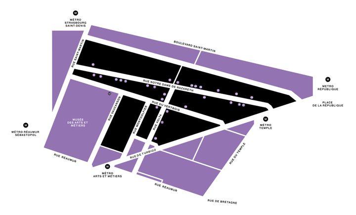 La carte du quartier du Vertbois (PEOPLE OF VERTBOIS)