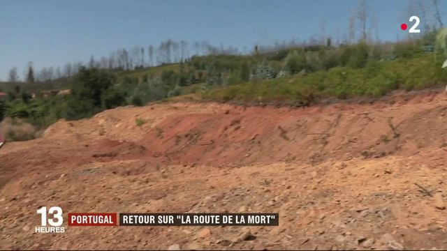 """Portugal : retour sur la """"route de la mort"""", théâtre d'un incendie meurtrier en 2017"""
