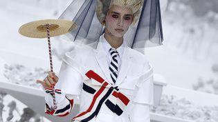 Thom Browneprintemps-été 2020, à la Paris Fashion Week, le 29 septembre 2019. (FRANCOIS GUILLOT / AFP)