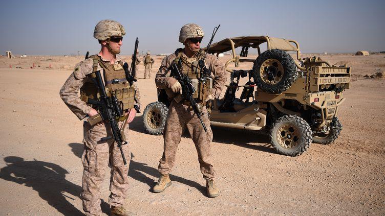 Des soldats américains, àLashkar Gah, en Afghanistan, le 28 août 2017. (WAKIL KOHSAR / AFP)