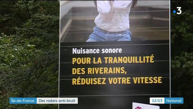 Un radar antibruit installé en Île-de-France