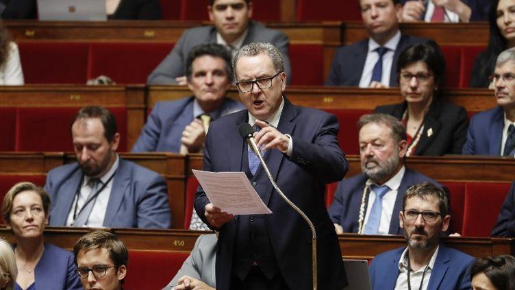 Richard Ferrand, lors d'une séance des questions au gouvernement, le 11 novembre 2017, à l'Assemblée nationale (Paris). (FRANCOIS GUILLOT / AFP)