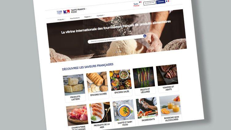 Capture d'écran de la plateforme numérique Team France Export (jeudi 25 mars 2021). (STEPHANIE BERLU/ FRANCEINFO)