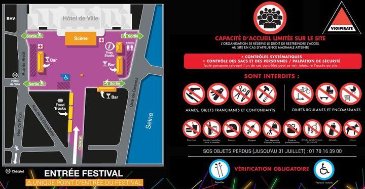 Le plan d'accès au Fnac Live Festival, sur la place de l'Hôtel de Ville à Paris. (FNAC LIVE FESTIVAL)