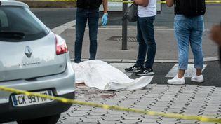 L'attaque au couteau de Villeurbanne (Rhône) a fait au moins un mort, le 31 août 2019. (NICOLAS LIPONNE / NURPHOTO / AFP)