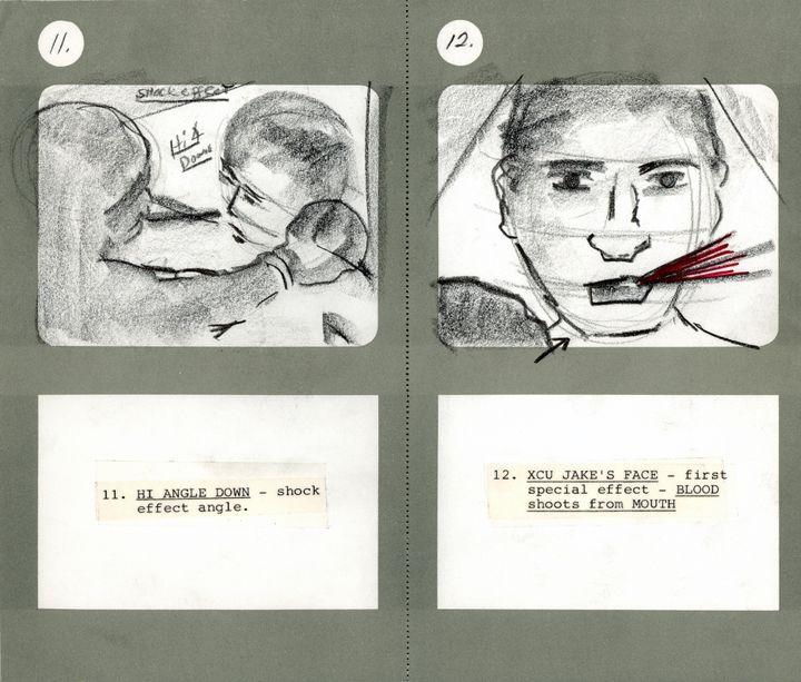 Storyboard de Martin Scorsese, Raging Bull, 1980  (Martin Scorsese Collection, New York)