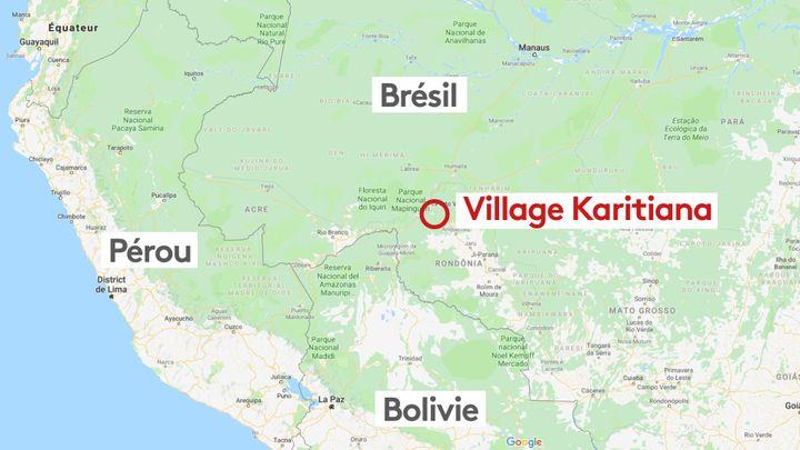 Le village des Karitiana, au Brésil. (GOOGLE PAM / STEPHANIE BERLU / RADIO FRANCE)