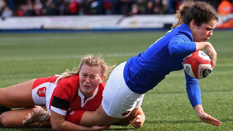 Lors de leur dernier match du Tournoi, en février, les Tricolores s'étaient imposées face au Pays de Galles (50-0). (ANNE-CHRISTINE POUJOULAT / AFP)