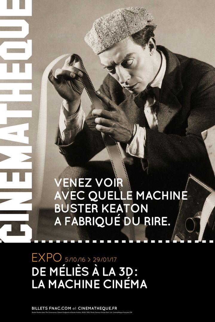 """Affiche de l'exposition """"De Méliès à la 3D : la machine cinéma""""  (Cinémathèque française)"""