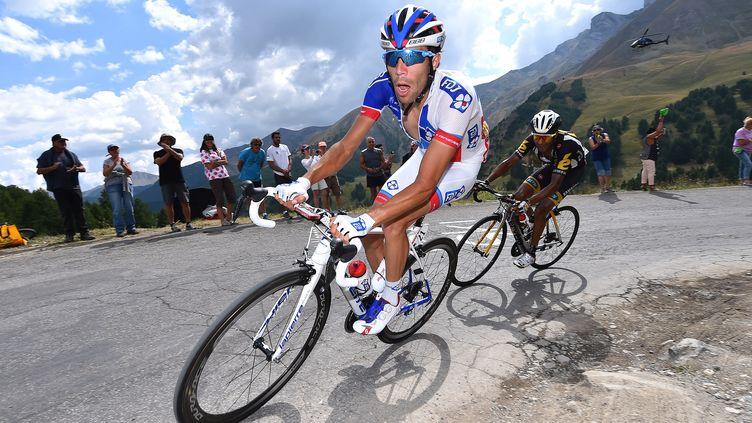 Le Français Thibaut Pinot (FDJ) le 22 juillet 2015 lors de la 17e étape du Tour de France. (DE WAELE TIM / TDWSPORT SARL / AFP)