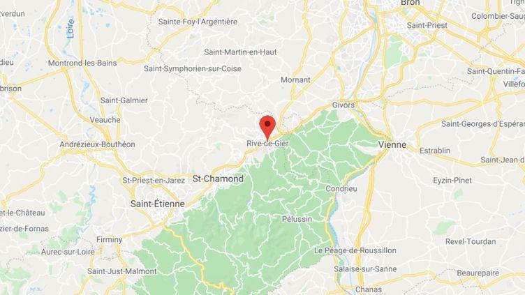 La commune de Rive de Gier dans la Loire. (GOOGLE MAPS)