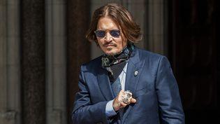 L'acteur Johnny Depp, à Londres, le 24 juillet 2020. (WIKTOR SZYMANOWICZ / NURPHOTO / AFP)
