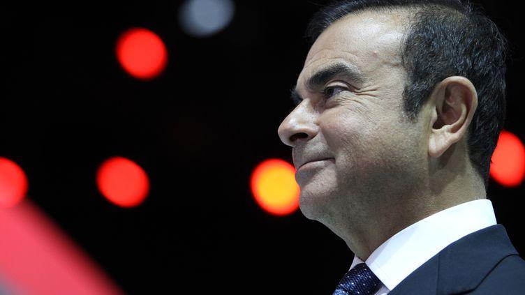 Carlos Ghosn, PDG de Nissan et Renault, lors d'un entretien avec l'AFP, le 14 janvier 2013 à Detroit (Etats-Unis). (GEOFF ROBINS / AFP)