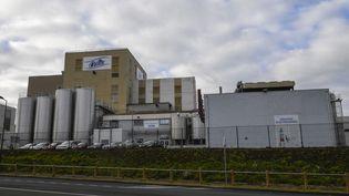 Du lait infantile a été contaminé par la salmonelle dans cette usineappartenant à Lactalis, à Craon (Mayenne). (DAMIEN MEYER / AFP)