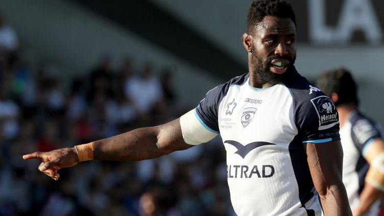 Fulgence Ouedraogo sous le maillot de Montpellier. (ROMAIN PERROCHEAU / AFP)