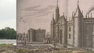 La tour Henri IV du château de Montagu à Marcoussis, dans l'Essonne, figure parmi les sites choisis par le Loto du patrimoine. L'enceinte médiévale du XVe siècle, en mauvais état, va pouvoir s'offrir un coup de neuf. (CAPTURE ECRAN FRANCE 2)
