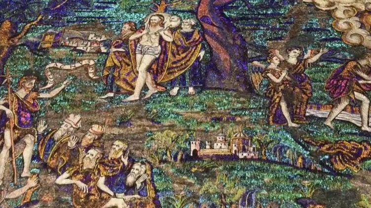 Le tableau d'un artiste aztèque du XVIe siècle, fabriqué en fragments de plumes, sera exposé pour la première fois en France au musée du Quai Branly-Jacques Chirac. (FRANCE 2)