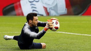 Le gardien de l'équipe de France, Hugo Lloris, lors de la demi-finale de la Coupe du Monde, contre la Belgique (ETIENNE LAURENT / EPA)