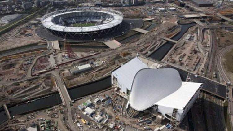 Le Stade Olympique et le Centre aquatique (photo prise en mars 2011) (ANTHONY CHARLTON / ODA PRESS OFFICE)