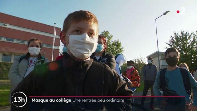 Masque au collège : une rentrée particulière