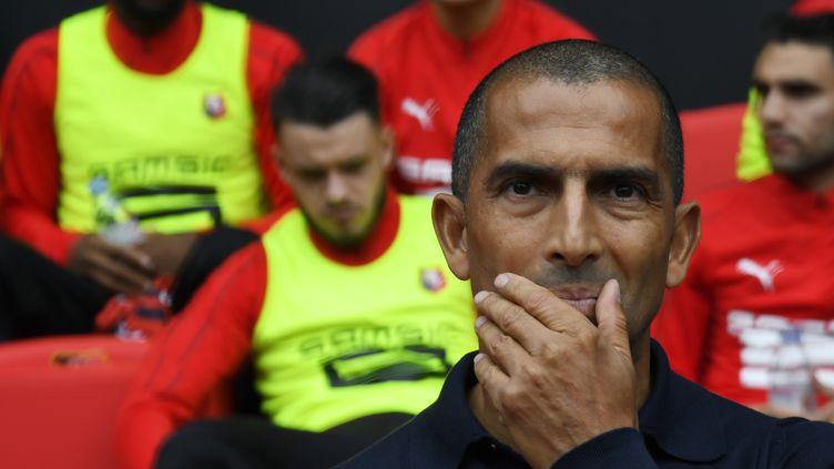 L'entraîneur du Stade Rennais Sabri Lamouchi (DAMIEN MEYER / AFP)