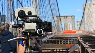 Un tournage à Brooklyn (New York). (PHOTO12 / GILLES TARGAT)