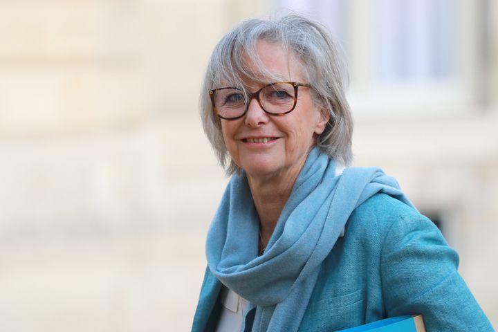 La secrétaire d'Etat Sophie Cluzel lors de son arrivée à une conférence sur le handicap à l'Elysée, le 11 février 2020. (LUDOVIC MARIN / AFP)