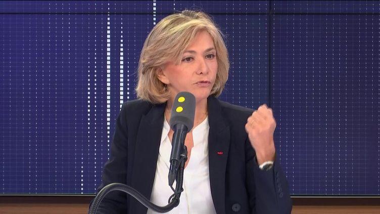 """Valérie Pécresse, présidente (Libres !) de la région Île-de-France, invitée du """"8h30 franceinfo"""", ci-contre le 19 décembre 2019. (FRANCEINFO / RADIOFRANCE)"""