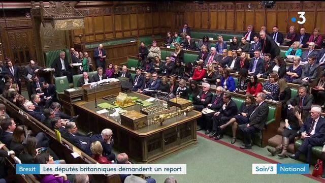 Brexit : les députés britanniques demandent un report