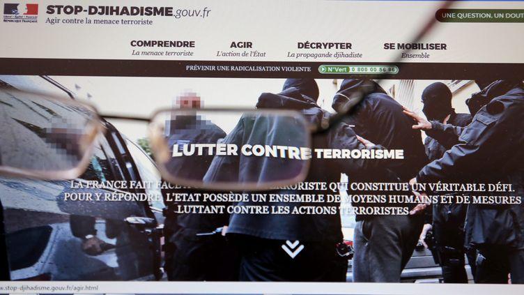 Stop-djihadisme.gouv.fr. Le site officiel du gouvernement contre le terrorisme (JULIO PELAEZ / MAXPPP)