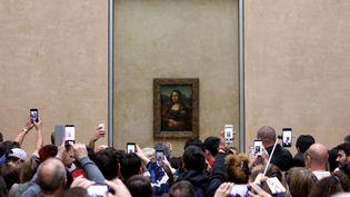La Joconde, (1503-1506) Léonard de Vinci au Louvre, avril 2018 (PEDRO FIUZA / NURPHOTO / AFP)