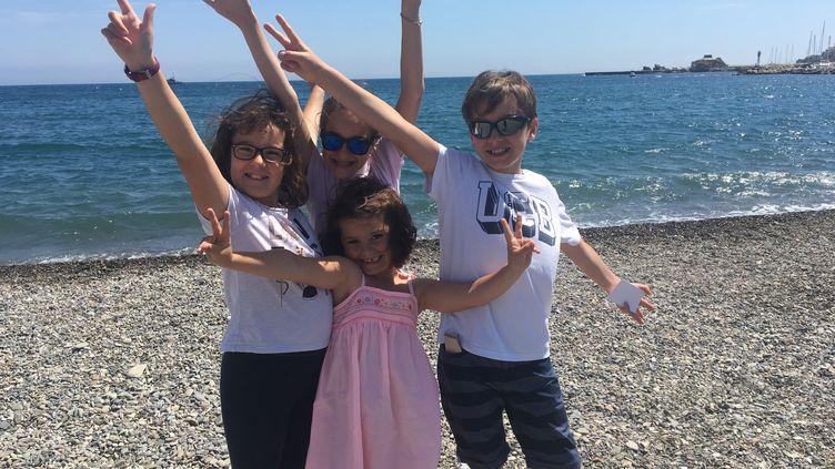 Jules, Maÿline, Marilou et Manon nous font découvrir Banyuls-sur-Mer. (INGRID POHU / RADIO FRANCE)